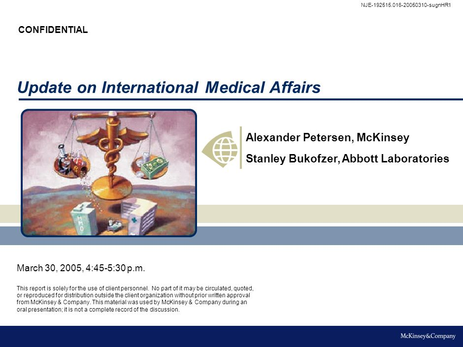 Update on International Medical Affairs