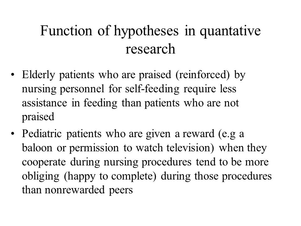 quantative research papers on nurses being patients District nurses, hospital doctors and  despite this being at the heart of evolving policy on end of life care quantitative research into the outcomes from.
