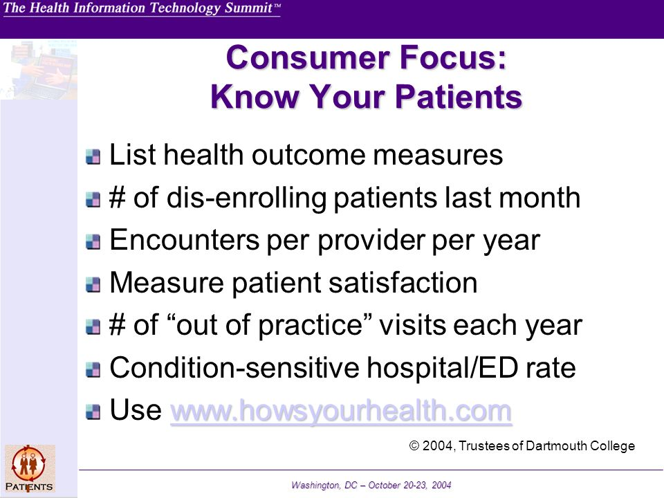 Consumer Focus: Know Your Patients