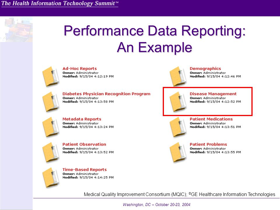 Performance Data Reporting: An Example