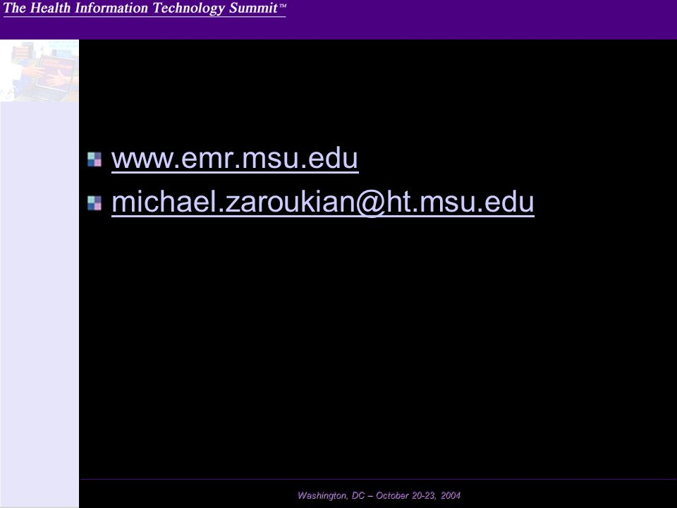 www.emr.msu.edu michael.zaroukian@ht.msu.edu