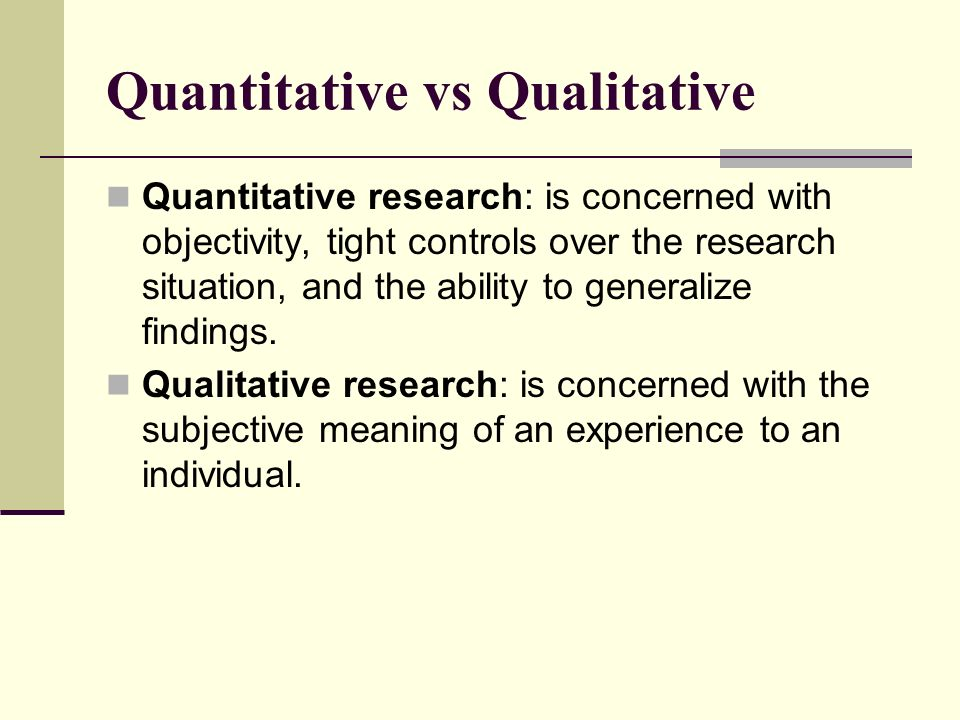 Use 'quantitative research' in a Sentence