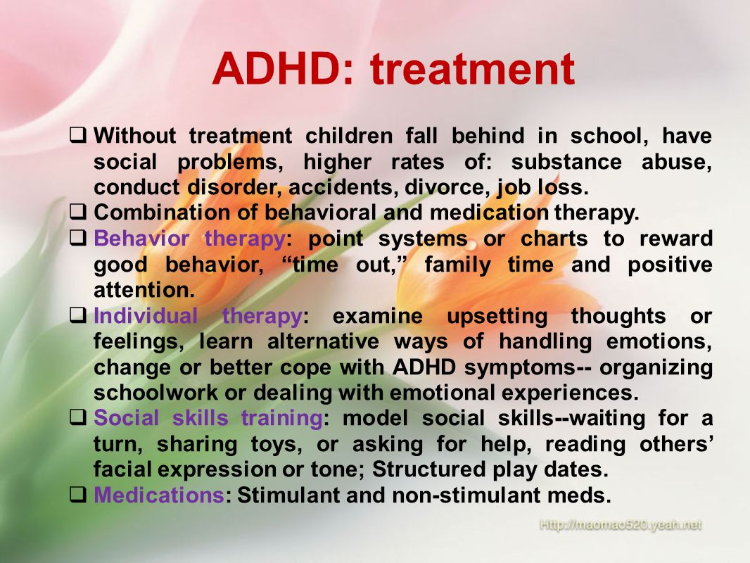 Adhd symptoms medications and statistics