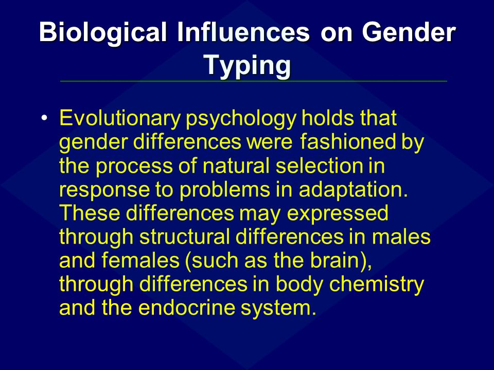 biological influences on gender Whenever gender roles and gender issues are discussed, one of the most controversial questions is whether biological hardwiring affects the behavior of men and.