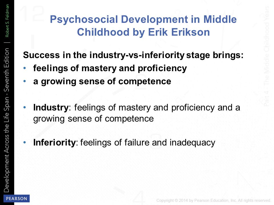 psychosocial development in middle childhood Middle schools: social, emotional, and metacognitive growth in july of 1963, william alexander, chairman of the department of education at george peabody college, was on his way to deliver an address at cornell university on the successes of the junior high school movement when his flight was delayed at laguardia airport in new york city.