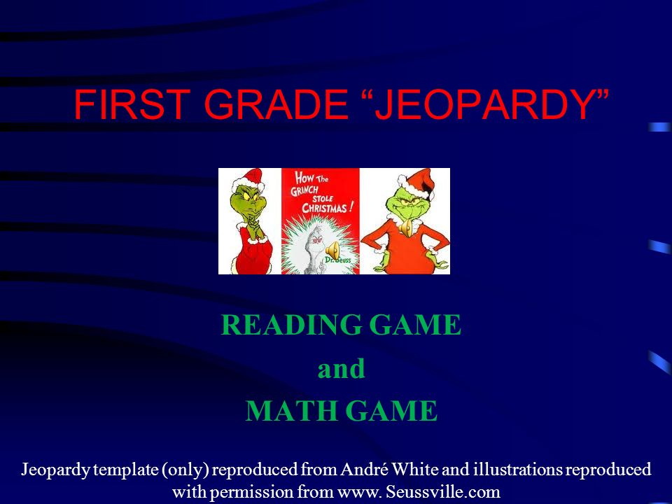 first grade jeopardy - Christmas Jeopardy Game