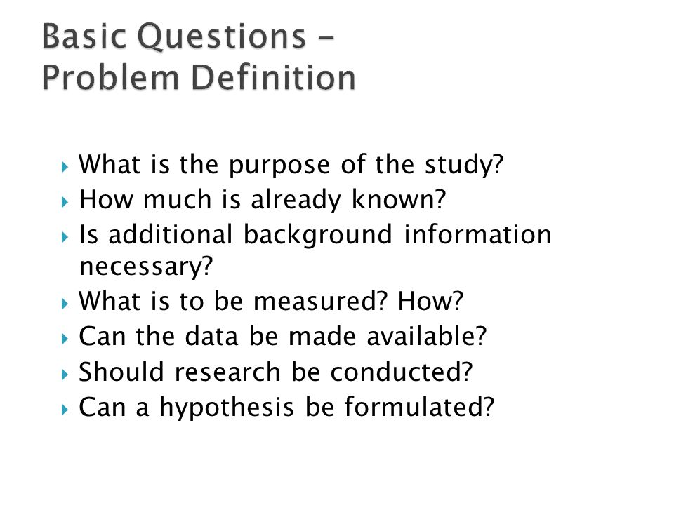 Basic parts of research proposal