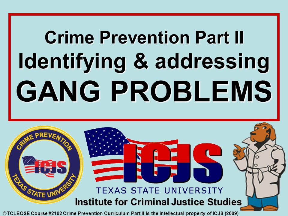 crime and crime prevention The future of crime prevention: developmental and situational strategies brandon c welsh school of criminology and.