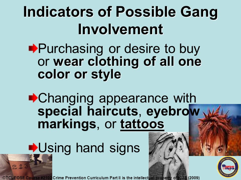 Crime Prevention Part II Identifying & addressing GANG ... Non Verbal Communication Signs