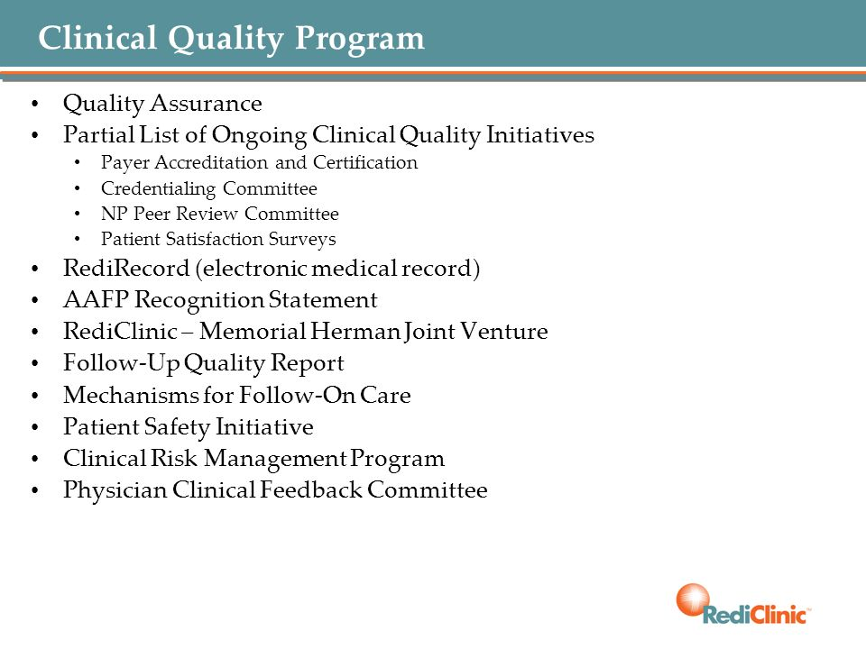 Clinical Quality Program