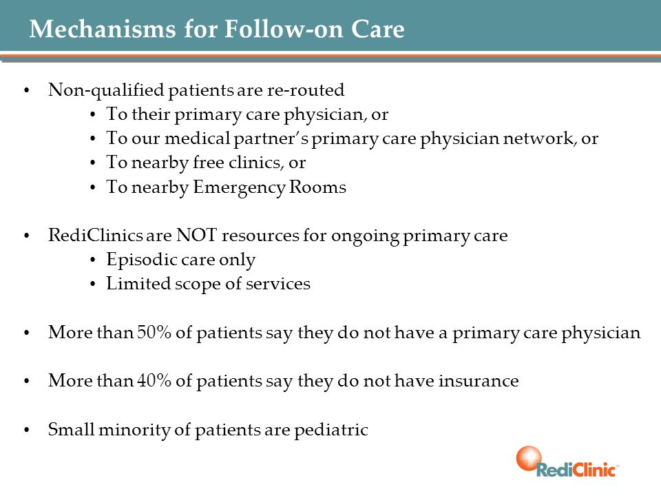 Mechanisms for Follow-on Care