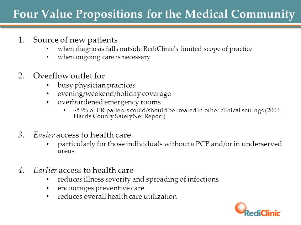 Four Value Propositions for the Medical Community