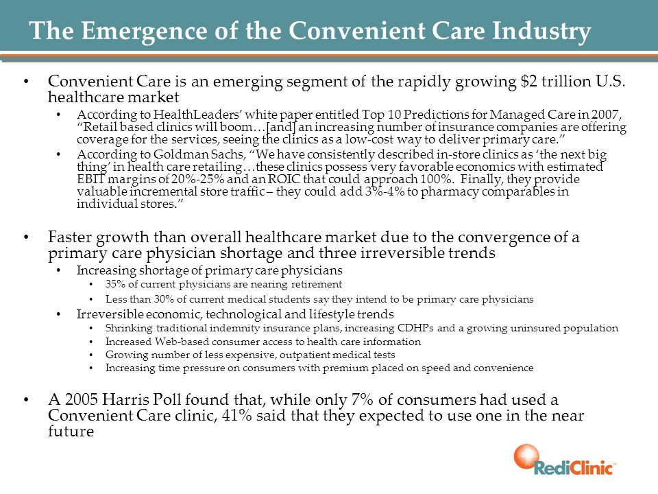 The Emergence of the Convenient Care Industry