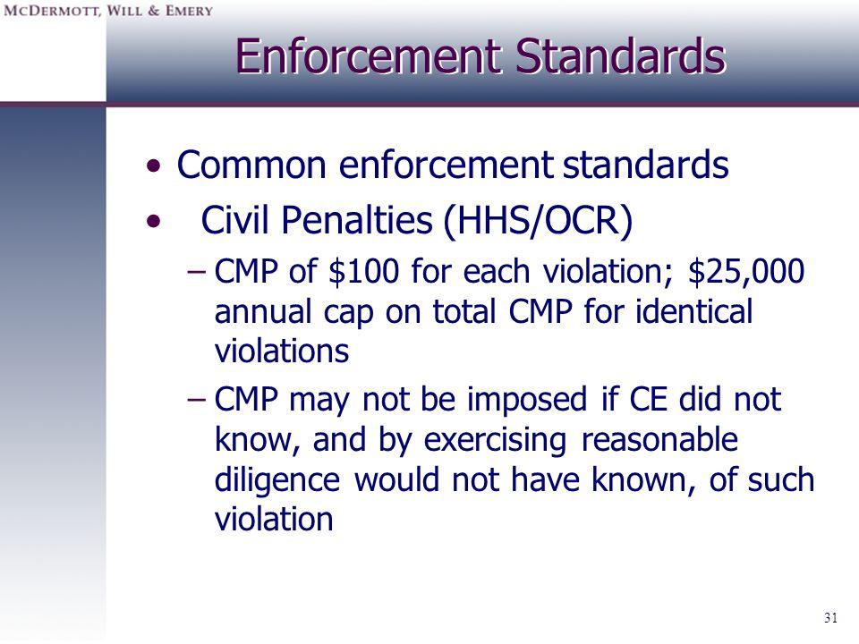 Enforcement Standards