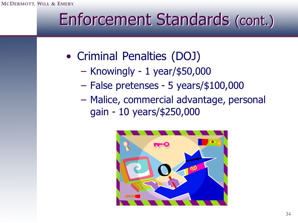 Enforcement Standards (cont.)