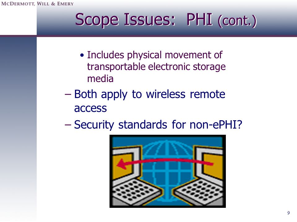 Scope Issues: PHI (cont.)