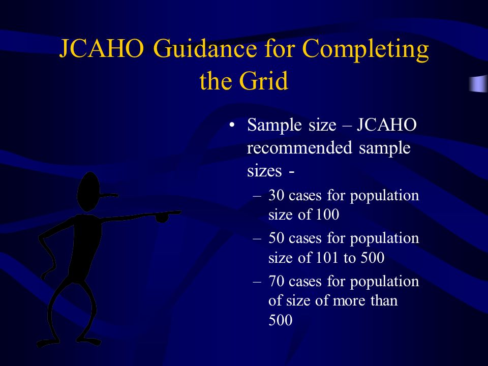 JCAHO Guidance for Completing the Grid
