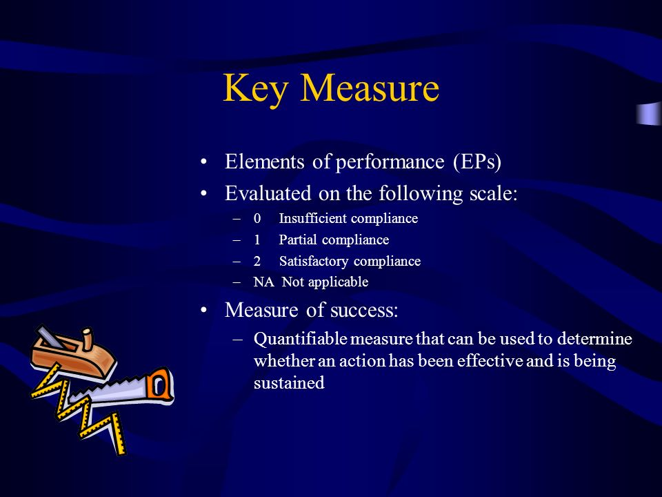 Key Measure Elements of performance (EPs)