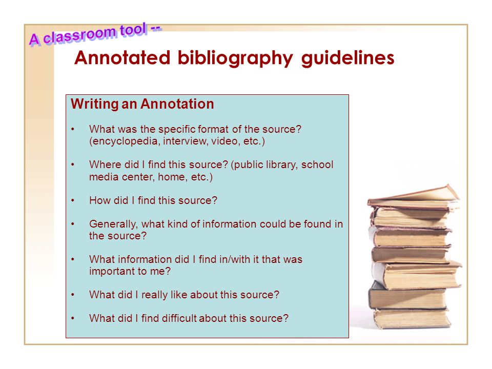 Annotated bibliography guideline