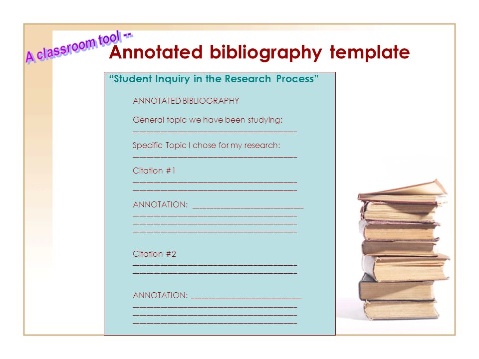 an annotated bibliography template Give us a call and we will write annotated bibliography for you yes, it's that easy – you tell us what exactly you need and we write a customized work.