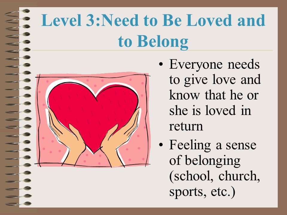 Level 3:Need to Be Loved and to Belong