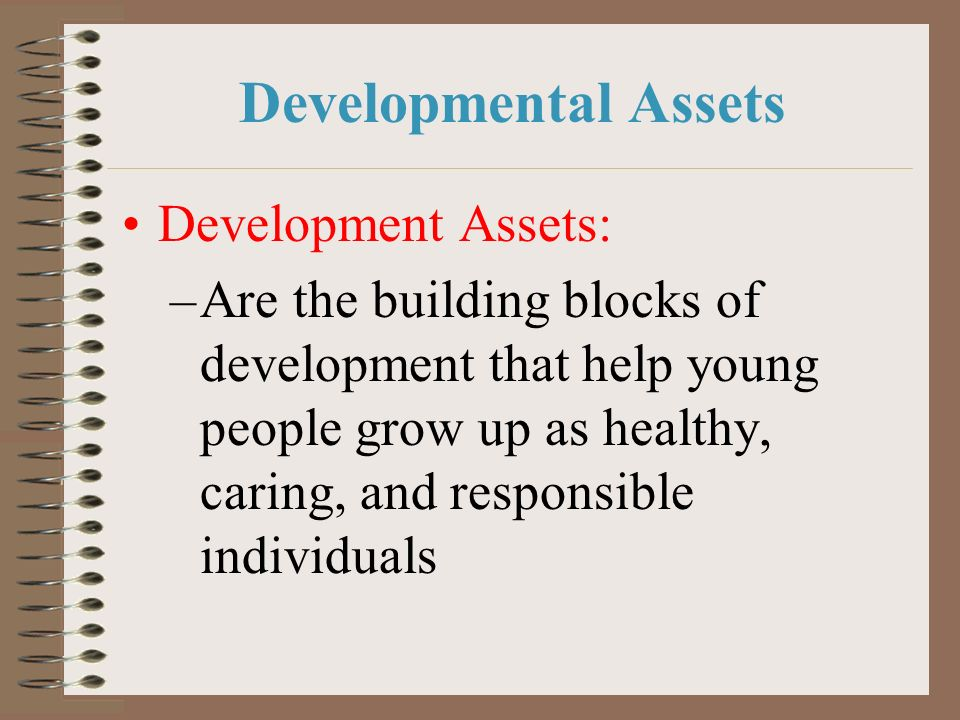 Developmental Assets Development Assets:
