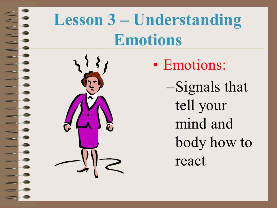 Lesson 3 – Understanding Emotions