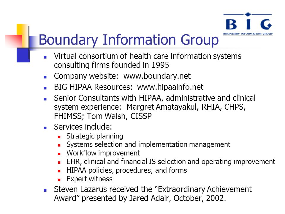 Boundary Information Group