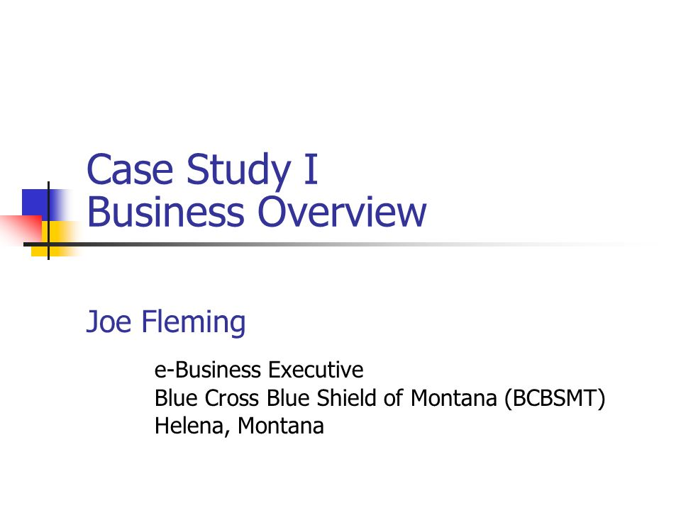 Case Study I Business Overview