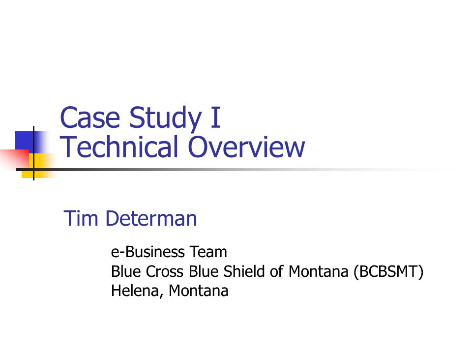 Case Study I Technical Overview
