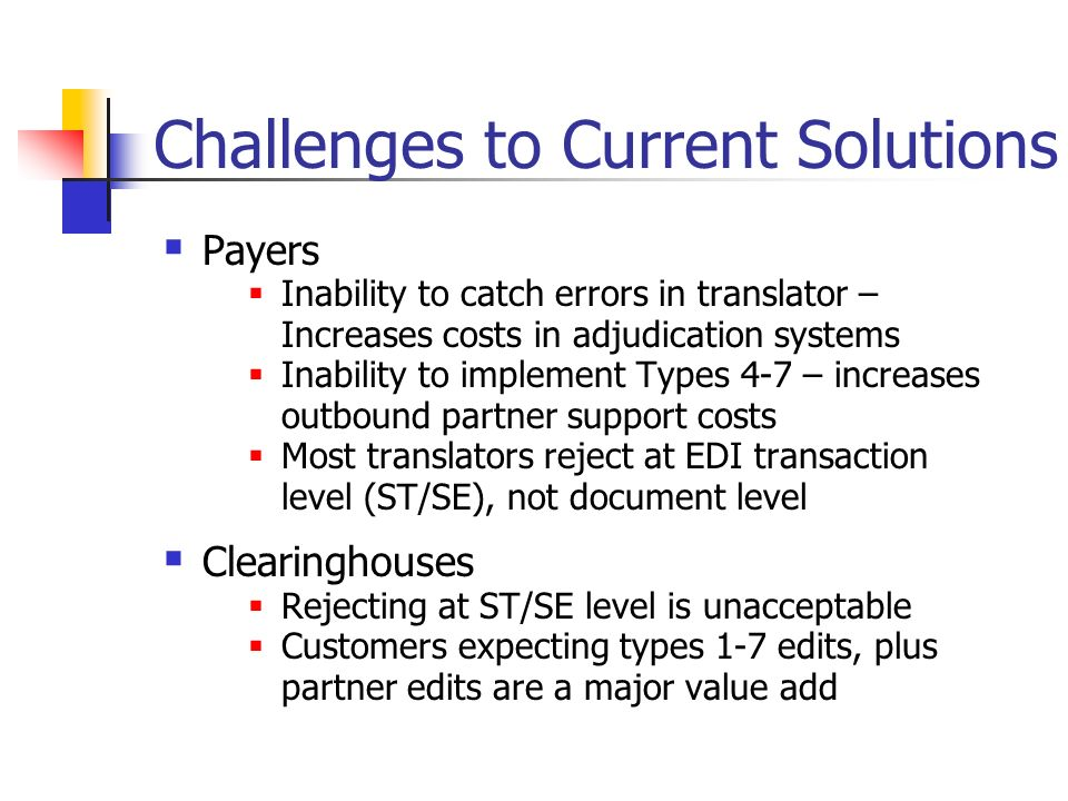 Challenges to Current Solutions