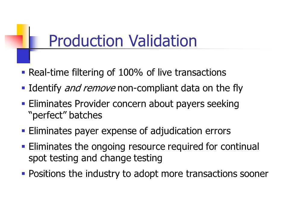 Production Validation