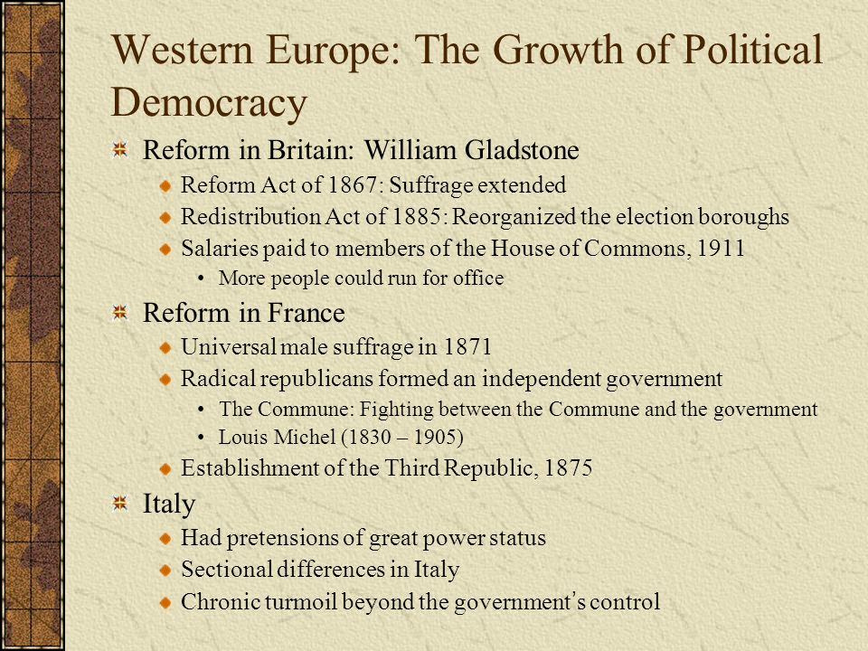 the impact of the 1867 reform act The 1867 reform act was the second major attempt to reform britain's electoral process why did calls for reform revive in the 1860s calls for parliamentary reform had largely died down since chartism.