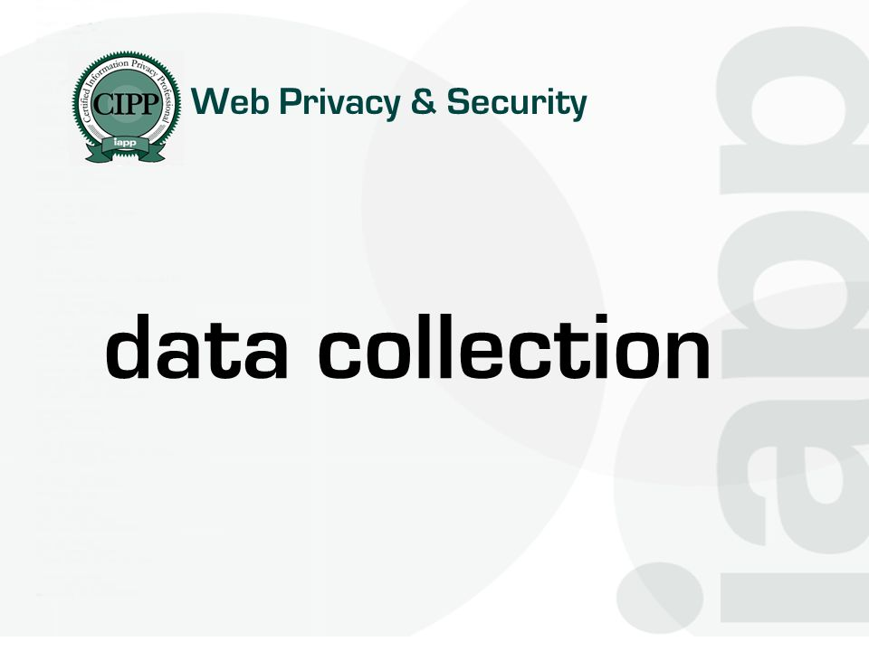 Web Privacy & Security data collection