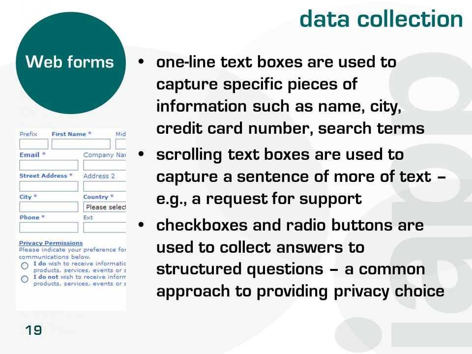 data collection Web forms