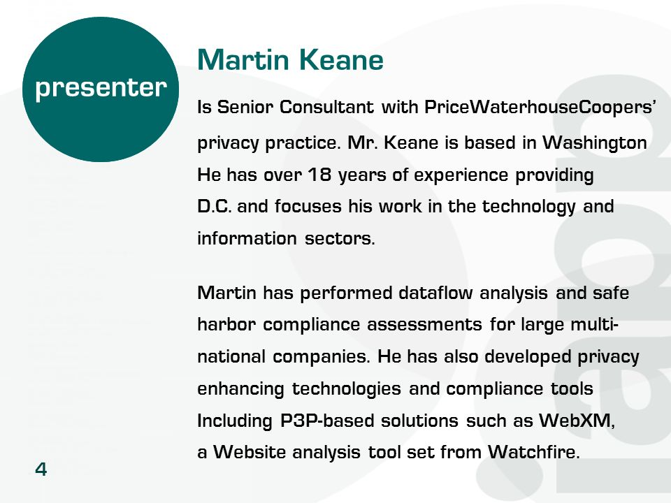 Martin Keane presenter