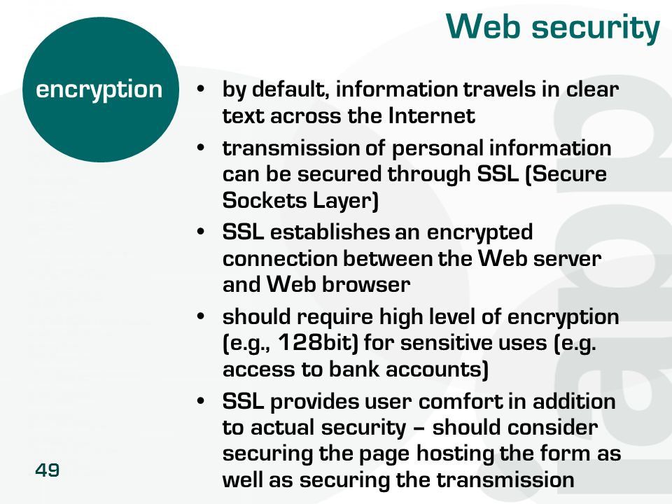 Web security encryption