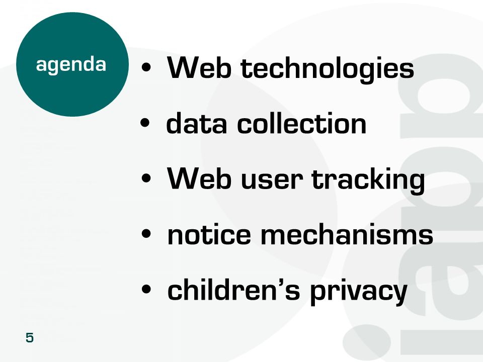Web technologies data collection Web user tracking notice mechanisms