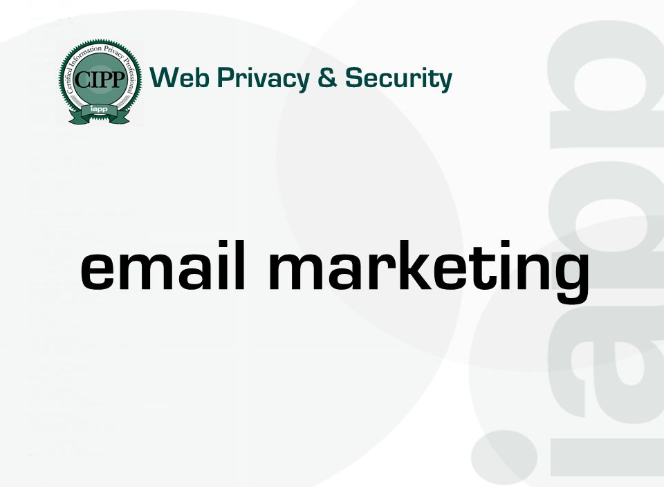 Web Privacy & Security  marketing
