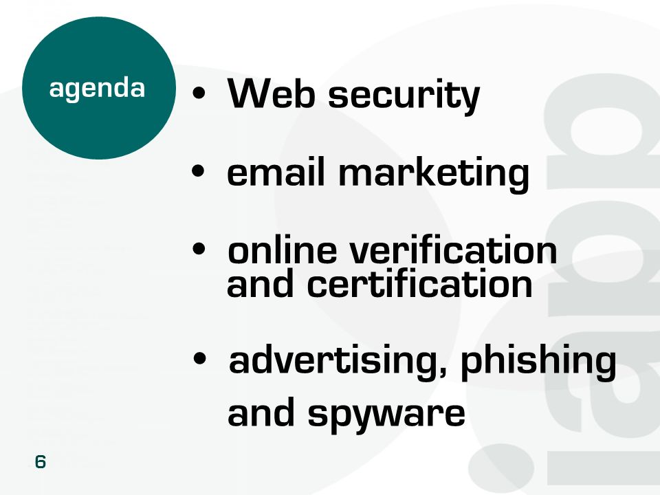 Web security email marketing online verification and certification