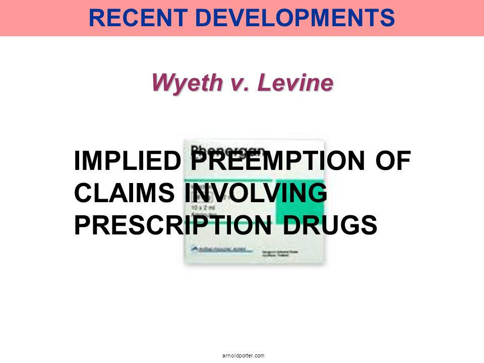 IMPLIED PREEMPTION OF CLAIMS INVOLVING PRESCRIPTION DRUGS
