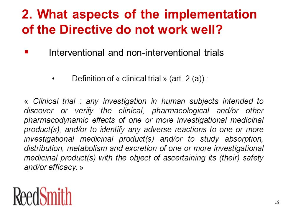 2. What aspects of the implementation of the Directive do not work well