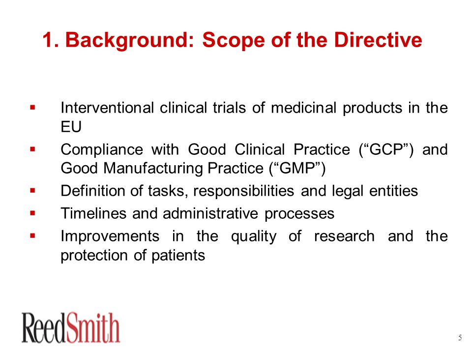 1. Background: Scope of the Directive