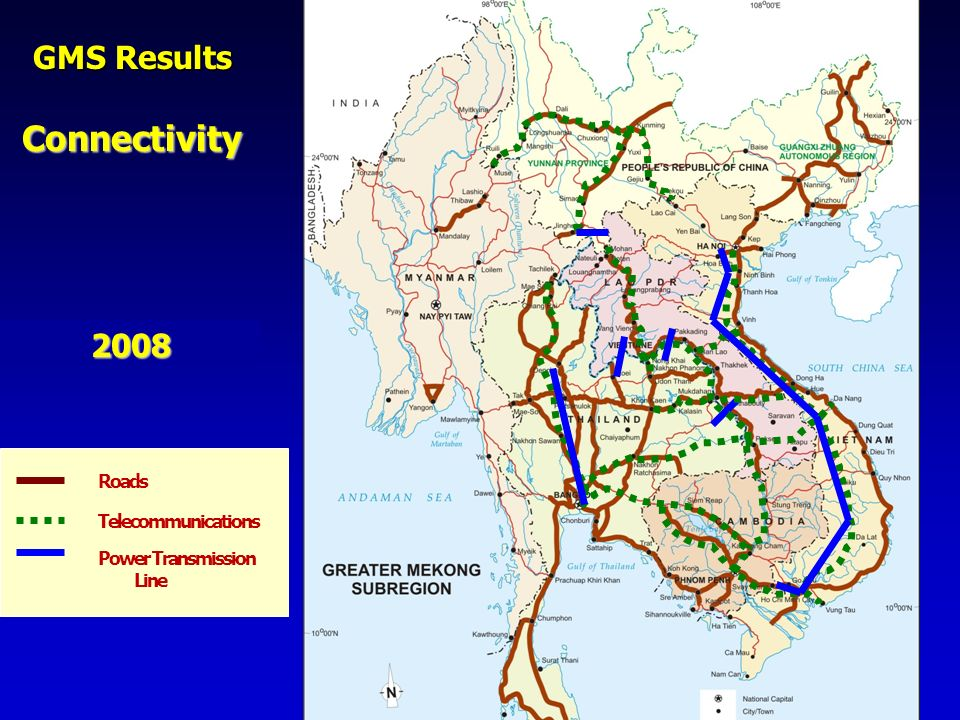 Connectivity GMS Results 2008 Roads Telecommunications