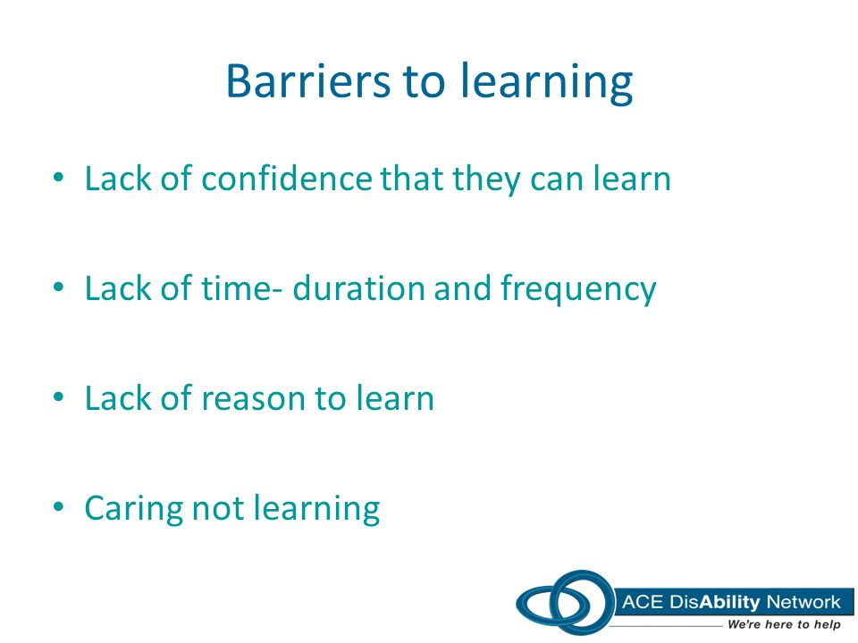 AdultLearning - Barriers to Learning