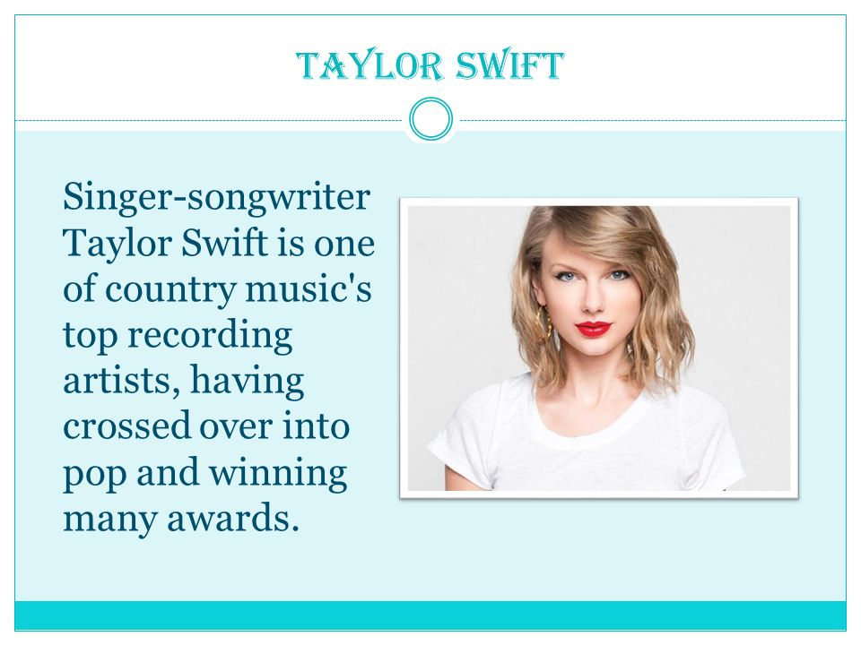 Taylor swift performed by lesia yatchuk khrystyna for How many country music awards are there