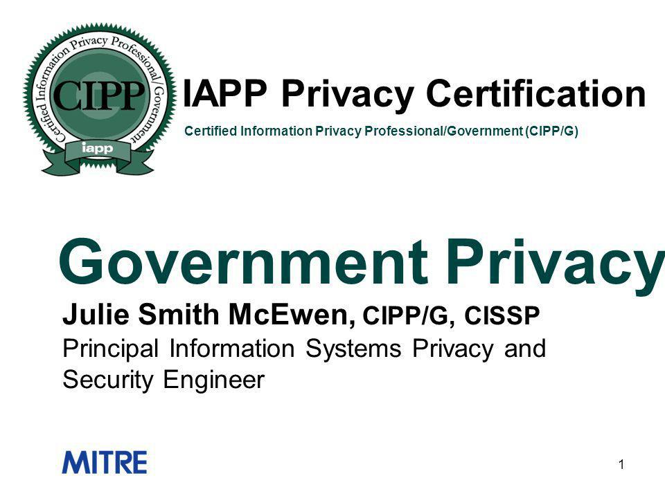 Government Privacy IAPP Privacy Certification