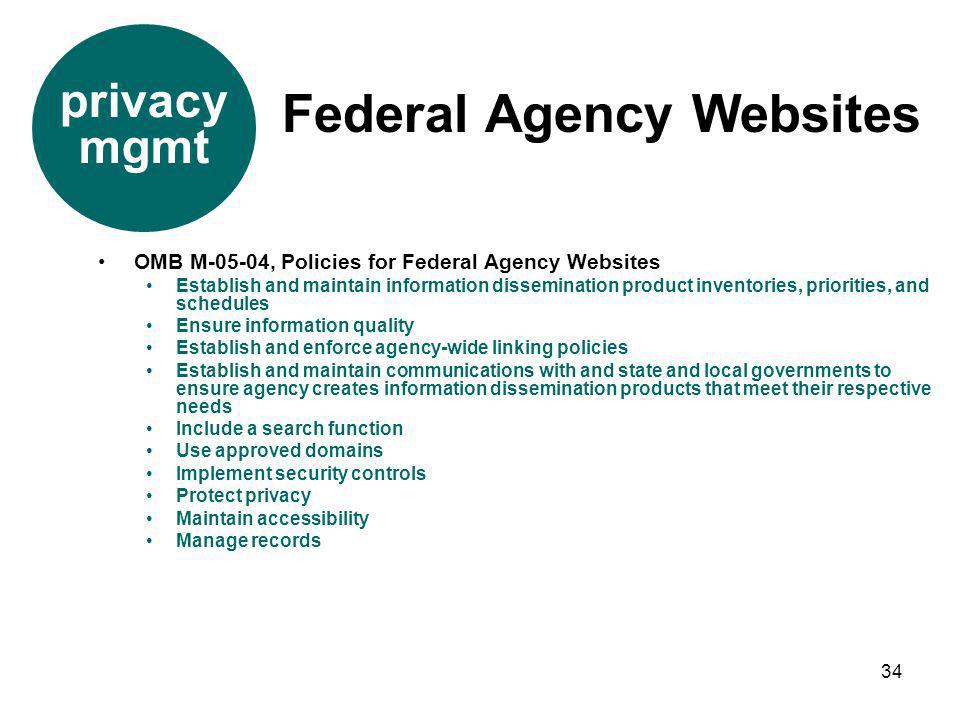 Federal Agency Websites