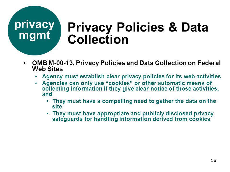 Privacy Policies & Data Collection