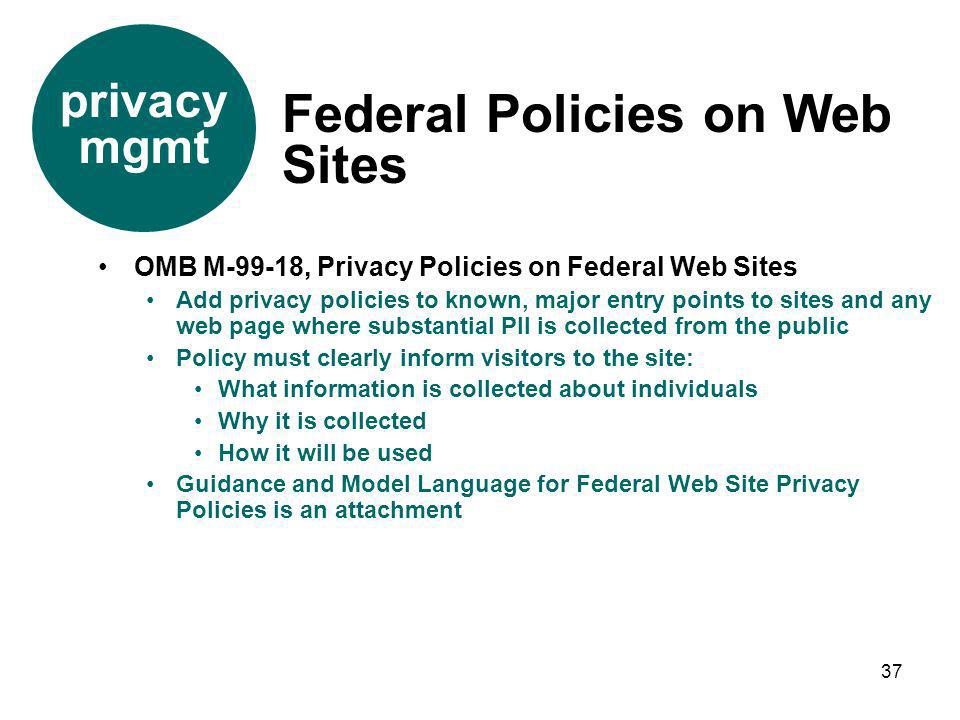 Federal Policies on Web Sites